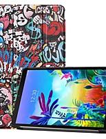 Недорогие -чехол для LG G Pad 5 10.1 противоударный / с подставкой / флип чехол для всего тела бабочка / Эйфелева башня / декорации PU кожаный чехол для LG G Pad 5 10,1