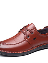 cheap -Men's Fall Casual / British Daily Party & Evening Oxfords Microfiber Breathable Non-slipping Wear Proof Black / Brown Striped