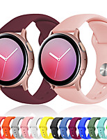 cheap -Sport Silicone Wrist Strap Watch Band for Samsung Galaxy Watch 42mm / Galaxy Active 2 40mm 44mm R820 R830 / Active R500 / Gear S2 Classic / Gear Sport Replaceable Bracelet Wristband