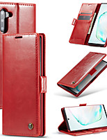 cheap -CaseMe Luxury Business Leather Magnetic Flip Case For Samsung Galaxy Note 10 / Note 10 Plus Full Body Case With Wallet Card Slot Stand Case Cover
