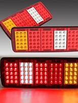 cheap -2Pcs 12V Car Rear Tail Light Barke Side Indicator Lamp For Universal Trailer Truck