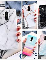 cheap -Case For Huawei Huawei p40 / Huawei P40 Pro / Huawei P20 lite marble imd process TPU material glossy ring bracket beautiful mobile phone case