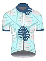 Недорогие -21Grams Муж. С короткими рукавами Велокофты Спандекс Полиэстер Синий / белый Горошек Узоры тай-дай Велоспорт Джерси Верхняя часть Горные велосипеды Шоссейные велосипеды / Эластичная / Дышащий
