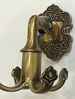 cheap -Bathroom Accessories Robe Hook Clothes Hook Rack Towel Rack Antique Brass Antique Copper Matte Brass M6 High Quality