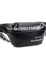 cheap -Running Belt Fanny Pack Belt Pouch / Belt Bag for Running Hiking Outdoor Exercise Traveling Sports Bag Adjustable Waterproof Portable PU Men's Women's Running Bag Adults