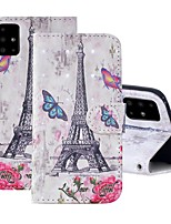 cheap -Case For Samsung Galaxy A51/ Galaxy A20e / Galaxy Note 10 Plus Wallet / Card Holder / with Stand Full Body Cases Eiffel Tower PU Leather For Galaxy A71/A10S/A20S/M30S/A2 Core/A10E