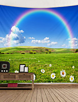 cheap -Prairie Rainbow Digital Printed Tapestry Decor Wall Art Tablecloths Bedspread Picnic Blanket Beach Throw Tapestries Colorful Bedroom Hall Dorm Living Room Hanging