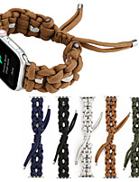 cheap -Woven Nylon Rope Bracelet Strap for Apple Watch Band 38/40mm 42/44mm Series 5 4 3 2 1 Umbrella Rope Frabic Loop for iWatch 5
