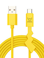 cheap -ROCK PIKACHU 1.2M Lightning / Type-C Cable Quick Charge TPE USB Cable Adapter