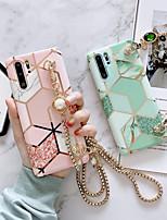 Недорогие -samsung s20plus matcha зеленый шить мраморный узор чехол для телефона note10plus горный хрусталь диагональная металлическая цепь длинный шнур s10e защитный чехол