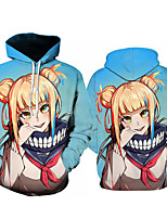 cheap -Inspired by My Hero Academia Boko No Hero Cosplay Costume Hoodie Polyster Print Printing Hoodie For Men's / Women's