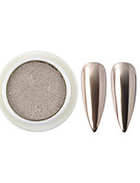 Недорогие -1 коробка металлическое зеркало твердый порошок ногтей блеск ногтей хром пигмент пыль поделки партия маникюр украшения