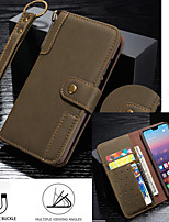 cheap -Case For Huawei Tablets Huawei P20 / Huawei P20 Pro / Huawei P30 Shockproof / Pattern Full Body Cases Word / Phrase / Scenery PU Leather / TPU
