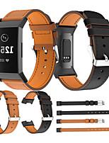 Недорогие -Ремешок для часов для Fitbit заряд3 / Fitbit Charge 4 Fitbit Спортивный ремешок / Кожаный ремешок / Современная застежка Стеганная ПУ кожа Повязка на запястье