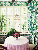 cheap -Custom Self-Adhesive Mural Wallpaper Green Begonia Flower Is Suitable For Bedroom Living Room Coffee Shop Restaurant And Hotel Wall DecoratioArt Deco Landscape Home Decoration Modern Wall Covering
