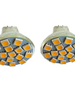 cheap -2pcs 3 W LED Spotlight 300 lm MR11 15 LED Beads SMD 5050 Warm White Cold White Natural White 9-30 V