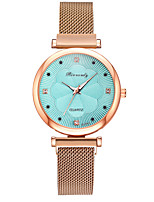cheap -Women's Quartz Watches Fashion Blue Rose Gold Alloy Chinese Quartz White Black Blue Casual Watch Analog One Year Battery Life
