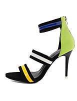 cheap -Women's Heels / Sandals 2020 Heel Sandals Spring &  Fall / Spring & Summer Stiletto Heel Open Toe Classic Minimalism Daily Party & Evening PU Light Green