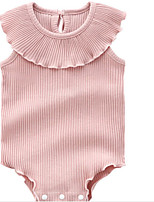cheap -Baby Girls' Active Dusty Rose Solid Colored Print Sleeveless Romper Blushing Pink
