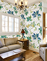 cheap -Custom Self-Adhesive Mural Wallpaper Green Leaves Suitable For Bedroom Living Room Wall Decoration Art Art Deco Landscape Home Decoration Modern Wall Covering