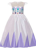 cheap -Princess Elsa Dress Flower Girl Dress Girls' Movie Cosplay A-Line Slip Purple / Blue Dress Children's Day Masquerade Tulle Sequin Cotton