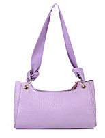 cheap -Women's Polyester / PU Top Handle Bag Leather Bags Solid Color White / Black / Purple / Fall & Winter