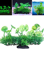 cheap -Fish Tank Arquatic Plant Fish Bowl Ornament Waterplant Artificial Plants Green Non-toxic & Tasteless Decoration Resin Plastic One-piece Suit 18*6*11 cm