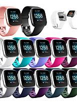 Недорогие -Ремешок для часов для Fitbit Versa Lite / Fitbit Versa2 фитбит наоборот 2 Спортивный ремешок силиконовый Повязка на запястье