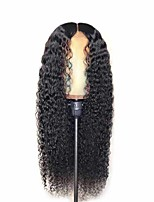 cheap -Synthetic Wig Matte Afro Curly Middle Part Wig Very Long Natural Black Synthetic Hair 26 inch Women's Middle Part curling Fluffy Black