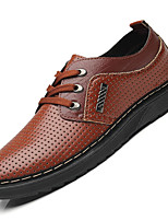 cheap -Men's Summer Classic / Casual Daily Office & Career Sneakers Faux Leather Non-slipping Wear Proof Black / Brown