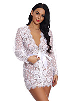 cheap -Women's Lace / Mesh Suits Nightwear Solid Colored Wine Purple Blue S M L