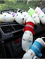 cheap -1pc Car Accessories Auto Cute Purifying Car Air Fresher Interior Deodorant Plush Cartoon Dog Charcoal Bamboo Bag Car Decoration