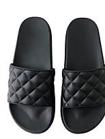 cheap -Women's Slippers & Flip-Flops Spring & Summer Flat Heel Round Toe Daily PU Black