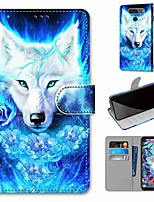 cheap -Case For LG Q70 / LG K50S / LG K40S Wallet / Card Holder / with Stand Full Body Cases Rose Wolf PU Leather / TPU for LG K30 2019 / LG K20 2019