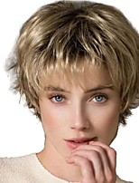 cheap -Synthetic Wig kinky Straight Pixie Cut Wig Short Light golden Synthetic Hair 12 inch Women's Life Classic Women Blonde