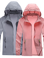 cheap -Women's Hiking Skin Jacket Hiking Jacket Hiking Windbreaker Summer Outdoor Sunscreen Breathable Quick Dry Anti-Mosquito Jacket Top Elastane Single Slider Running Hunting Fishing Pink / Grey / Rose Red