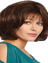 cheap -Synthetic Wig kinky Straight With Bangs Wig Short Light Brown Synthetic Hair 12 inch Women's Simple Life Classic Light Brown