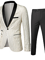cheap -Tuxedos Standard Fit Shawl Collar Single Breasted One-button Polyester Solid Colored