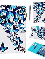 Недорогие -чехол со свободным стилусом 2in1 для samsung galaxy samsung tab t377 / t375 / t280 / t285 / p200 / 205 пыленепроницаемый / с подставкой / откидная задняя крышка бабочка искусственная кожа
