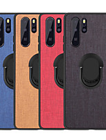 cheap -Case For Huawei Huawei P30/P30 Pro/P30 Lite/P20/Mate30/Mate30 Pro/V30/V30 ProShockproof / Ring Holder Back Cover Solid Colored PU Leather / TPU / Plastic