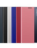 Недорогие -Кейс для Назначение SSamsung Galaxy A6+ (2018) / Note 9 / Note 8 Защита от удара Чехол Однотонный Кожа PU