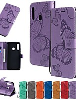cheap -Case For Samsung Galaxy A91 / M80S /Galaxy A81 / M60S/S20 Plus Wallet/Card Holder/with Stand Full Body Cases Butterfly / Solid Colored PU Leather For Galaxy A01/A11/A21/A41/A51/A71/A70E/M31/S20 Ultra