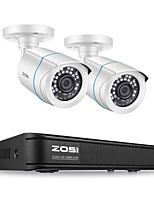 cheap -ZOSI H.265 1080P Home Security Camera System 4 Channel Security DVR Recorder and (2) 1080p Weatherproof Bullet Camera Outdoor/Indoor Remote Access Motion Detection (No Hard Drive)