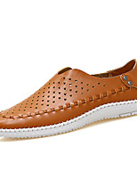 cheap -Men's Nappa Leather Spring & Summer / Fall & Winter Classic / Casual Loafers & Slip-Ons Breathable Khaki / Blue / White