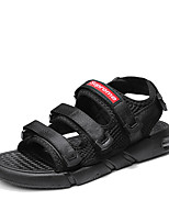 cheap -Men's Summer Classic / British Daily Outdoor Sandals Walking Shoes Cotton / Mesh Breathable Wear Proof Black