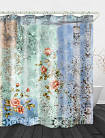 cheap -Ink Flowers And Plants Digital Print Waterproof Fabric Shower Curtain for Bathroom Home Decor Covered Bathtub Curtains Liner Includes with Hooks