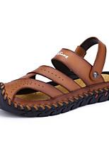cheap -Men's Summer Outdoor Sandals PU Non-slipping Light Brown / Black / Brown