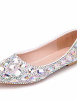 cheap -Women's Wedding Shoes Spring & Summer Flat Heel Round Toe Daily PU Purple / Gold / Blue