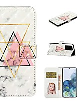 cheap -Case For Samsung Galaxy S20 / Galaxy S20 Plus / Galaxy S20 Ultra Wallet / Card Holder / with Stand Full Body Cases Marble PU Leather / TPU for Galaxy A51 / A71 / A80 / A70 / A50 / A30S / A20
