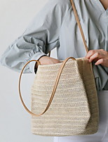 cheap -Women's Polyester Top Handle Bag Solid Color Beige / Gray / Coffee